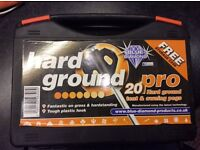 20 Pro Hard Ground Tent & Awning Pegs in storage case