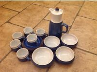 Denby imperial blue stoneware