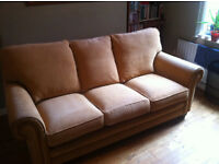 3 Seater Gold Sofa Immaculate Condition