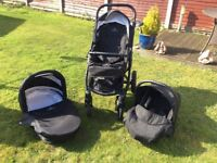 Venicci Travel System Car Seat, Carrycot & Pushchair Reduced for quick sale