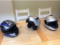 3 Full Face Crash Helmets (2 FM & 1 Caberg)