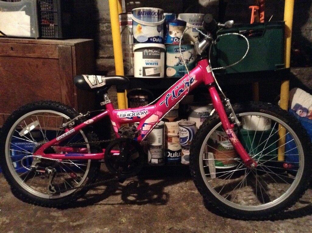 Shogun Flare girls pink bicycle 20 inch wheels 5-8 yrs