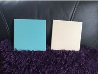 Ceramic wall tiles 6 ins x 6 ins egg shell blue and magnolia a gift at £40