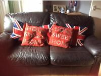 Dark brown sofa bed