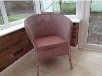 lloyd loom chair in pink 1952