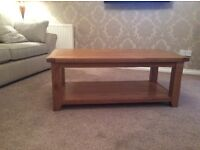 Solid Oak Coffee Table, hardly used. Excellent condition.