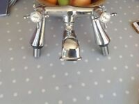 Chrome mixer taps