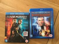 Blade Runner 1 and 2 Blu-Ray dvd's for sale played once