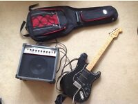 Electric guitar + Amp + Cables + Bag + headphones + extras!
