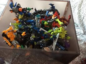 Lego bionicles x 2 boxes full lots of rates some nearly 20 years old