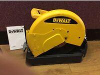 DEWALT 355MM CHOP SAW - WITH SPARE BLADES