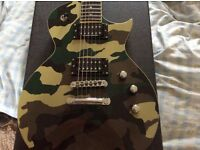 ESP LTD WILL ADLER ( Lamb of God) WA600 GUITAR GREEN CAMO FINISH