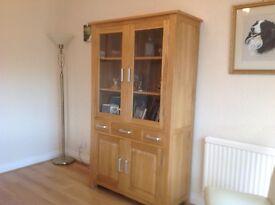 Beautiful solid oak glazed dresser