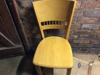 Trio of bespoke solid wood dining chairs
