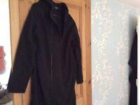 jojo maman bebe black maternity coat