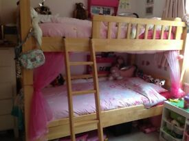 Bunk beds/single beds; chunky wooden & extra wide