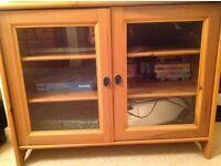 Furniture living room cupboard with glass lockable doors