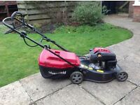 Key operated Mountfield petrol lawn mower - very good condition