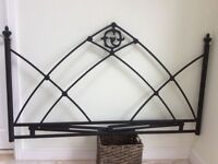 Headboard - Black Metal - Kingsize