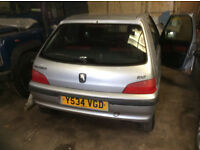 PEUGEOT 106 zest2 1600cc Diesel 5 door hatch silver spares or repair project donor car