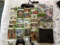 Boxed Xbox 360 250gb with Kinect and 27 games
