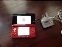 Like new 3ds red with super mario 3D land and some other games