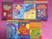 Age 7-9 GIRLS BOOKS, JACQUELINE WILSON COLLECTION OF SHORT STORY PAPERBACKS, FOR YOUNG READERS, VGC