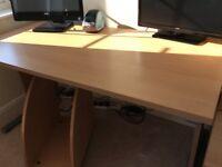 Desk & 4 Drawer Filing Cabinet