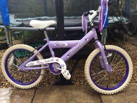 """Girls 18"""" silverfox bike"""