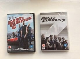 Fast and Furious 6 and 7 brand new UNOPENED DVDs the two latest from the famous film series
