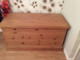Large specially made pine storage chest