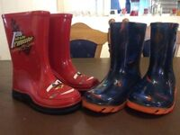 Two pairs of great condition wellies toddler size 8