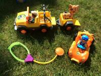 Go Diego jeep and underwater car