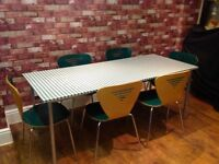 TABLE & 6 CHAIRS - DISMANTLED --- CAN DELIVER
