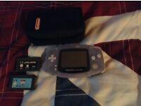 Nintendo gameboy advance with games and original Nintendo case