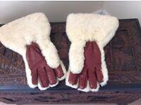 Vintage fur gauntlet gloves