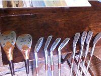 Used Wilson Ladies r/h steel golf clubs and bag