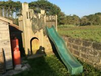 Children's wooden fort
