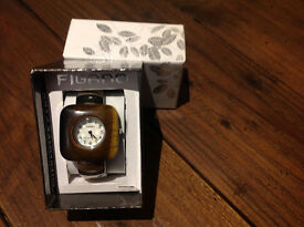 Ladie's Figaro Tiger eye watch