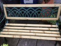 Refurbished garden bench