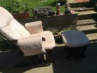 Glider chair & foot stool £50