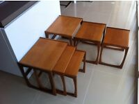 """2 Nests of G Plan """"Quadrille"""" side tables in excellent condition"""