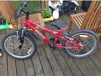 "Dawes Red Tail boys junior bike 20"" wheels"