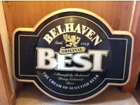 Belhaven Sign, water jugs, ice bucket and beer Mats.