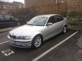 BMW silver 3 series