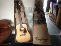 Epiphone DR-212 12-String Semi Acoustic, With Belcat Prener pm Pre amp 4 Band EQ with Blue LCD Tuner