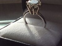 Beautiful 3.82ct Diamond Solitaire Ring Set In White Platinum 8 Claw mount ,certificate