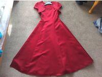 Dark Red/Maroon bridesmaid dress/Prom dress