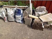 Free rubble concrete