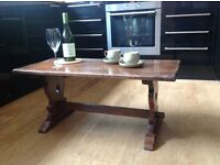 Solid Oak coffee table, typical oldie world style